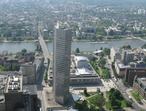 European Central Bank in Frankfurt Germany - Eurotower