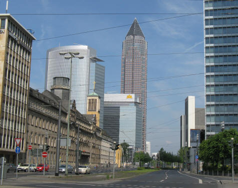 Messeturm Tower in Frankfurt Germany