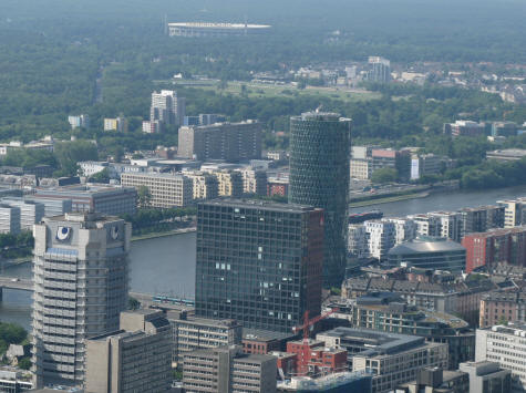 Westhafen Tower in Frankfurt Germany